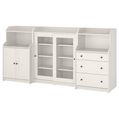 Hauga (IKEA Storage Combination) ( Furniture > Dining Furniture > Dining Storage > Display Cabinets ) #39388712 Ikea Storage, Storage Cabinets, Storage Spaces, Locker Storage, Painted Drawers, Painted Doors, Wide Chest Of Drawers, Plastic Foil, Ikea Family