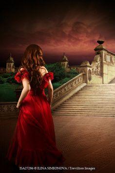 ILINA SIMEONOVA WOMAN IN RED DRESS BY GRAND STEPS Women