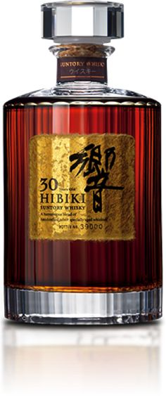 Hibiki 30 Year Old True masterpiece in the art of blending, Hibiki 30 year old is a remarquable mix of the finest single malt from Yamazaki and Hakushu, aged in different types of casks, and subtly vatted with grain whisky from Chita distillery. Cigars And Whiskey, Whiskey Drinks, Scotch Whiskey, Bourbon Whiskey, Grain Whisky, Japanese Whisky, Alcohol, Spiritus, Single Malt Whisky