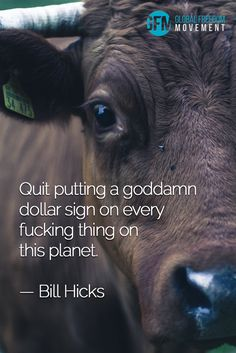 """""""Quit putting a goddamn dollar sign on every fucking thing on this planet."""" - Bill Hicks 
