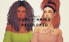 My Sims 4 Blog: ES Curly Hair Recolors by PxelPink