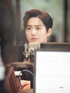 "dailyexo: ""Suho - 161029 MBC 'The Universe's Star' radio shoot Credit: Hodori522. (MBC '우주의별이' 라이도 촬영) """
