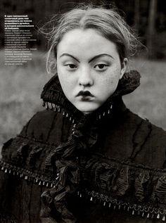 """Лесная Сказка"", Vogue Russia, October 1998  Photographer : Juergen Teller  Model : Devon Aoki"
