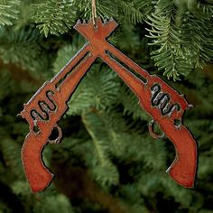 Bring a bit of western charm to your holiday tree with the Running W® double rifle ornament. | King Ranch Saddle Shop