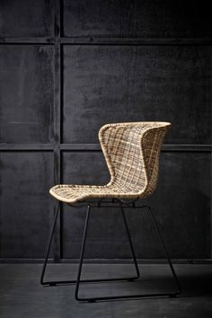 Functional and contemporary furniture and home accessories designed in the Netherlands by Woood. Stylish Rattan look chairs can be used inside or out Rattan Dining Chairs, Blue Dining Room Chairs, Metal Chairs, Outdoor Chairs, Indoor Outdoor, Blue Chairs, Ikea Chair, Solid Wood Furniture, Couches
