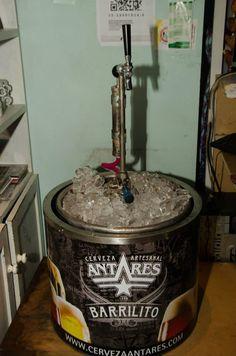Cerveza tirada Antares! #eventos #leclers  #barrilito #antares