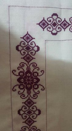 This Pin was discovered by b. Cross Stitch Borders, Cross Stitch Designs, Cross Stitch Patterns, Blackwork, Palestinian Embroidery, Prayer Rug, Embroidery Patterns, Diy And Crafts, Alphabet