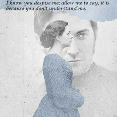 """""""I know you despise me; allow me to say, it is because you don't understand me."""" - North & South directed by Brian Percival (TV, Mini-Series, BBC, 2004) #elizabethgaskell #fanart"""