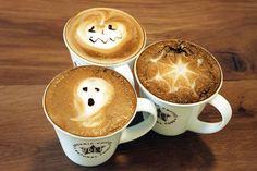 Pret a Manger's Halloween latte art!