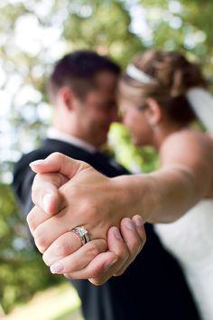 Unique wedding ring photo.
