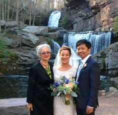 When having a ceremony at a beautiful location such as a waterfall - please be aware that the falls (esp. big ones) actually are LOUD!!! this can really impact the service.