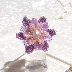 Diagrams for 3-tier petal flower  ~ Seed Bead Tutorials