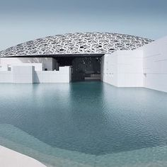 """Louvre Abu Dhabi has released new images of the Jean Nouvel-designed museum featuring a medina-inspired """"museum city"""" complete with a dome… Jean Nouvel, Museum Architecture, Futuristic Architecture, Islamic Architecture, Contemporary Architecture, World Trade Center Mall, Louvre Abu Dhabi, Grand Mosque, Modern City"""