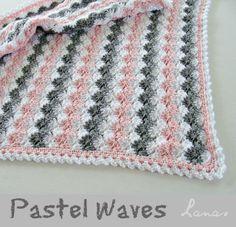 Lanas de Ana: Blanket: Pastel Waves