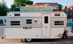 A photo studio in a vintage trailer. Yes, please!