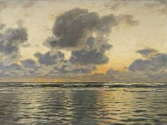 Eugen Dücker (German, 1841-1916), Evening on the Baltic Sea. Oil on canvas, 71.5 x 93.5 cm.