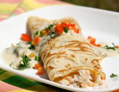 Seafood Crepes - used my own fish stock instead of the clam juice & my recipe for crepes - fantastic!