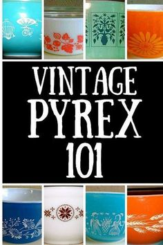 A Guide to Pyrex Vintage Pyrex is highly collectible ! This is a great primer on Pyrex for those who want to collectVintage Pyrex is highly collectible ! This is a great primer on Pyrex for those who want to collect Vintage Kitchenware, Vintage Dishes, Vintage Glassware, Corningware Vintage, Antique Dishes, Vintage Dinnerware, Dinnerware Sets, Pyrex Bowls, Pyrex