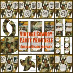 Mommy's Idea Notebook: Vintage Cowboy Party Printable Now Available!