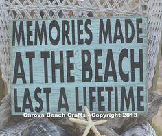 Beach Sign Beach Decor Beach Theme Memories by CarovaBeachCrafts, $35.00