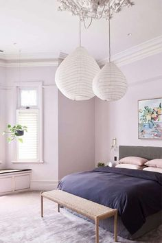 Perfect purple rooms, Draw inspiration from 10 sophisticated rooms from the *Belle* archive that have been swathed in the colour of the year. Purple Bedroom Walls, Calming Bedroom Colors, Mauve Bedroom, Lilac Room, Purple Bedrooms, Lilac Walls, Lavender Bedrooms, Lavender Walls, Purple Bedroom Design