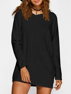 SHARE & Get it FREE | Loose Long V Neck Sweater - Black LFor Fashion Lovers only:80,000+ Items • New Arrivals Daily Join Zaful: Get YOUR $50 NOW!