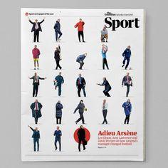 Guardian Sport cover #ArseneWenger #Football #SportsDesign #editorialdesign#newsdesign #graphicdesign