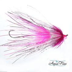 Stu's Intruder Steelhead Fly Aqua Flies Fuchsia/White 3 Flies