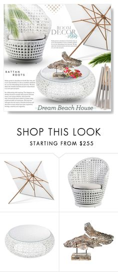 """""""RATTAN  ROOTS..."""" by desert-belle ❤ liked on Polyvore featuring interior, interiors, interior design, home, home decor, interior decorating, Skagerak, Relique, polyvoreeditorial and beachhouse"""
