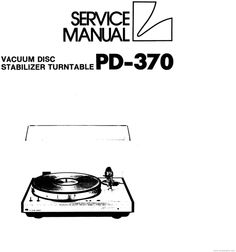 Thorens TD-123 mk2 Turntable Service Manual German