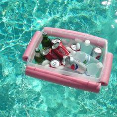 Noodley Beverage Boat for the next time I go floating. This is cheap enough to make i doubt I would care if it got lost.