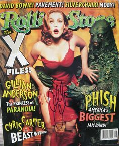Gillian Anderson Rolling Stone  X-Files Cover