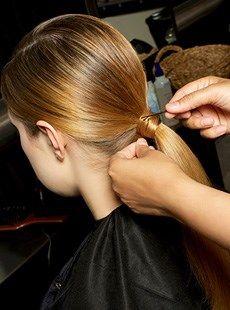 Step three brush in to ponytail