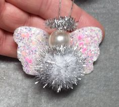 DIY~Sweet Little Sparkly Angel Ornament For Your Christmas Tree!