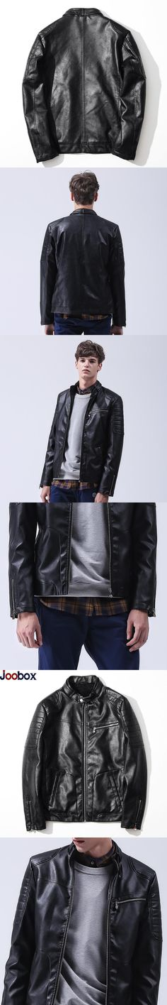 High Quality Luxury Fashion Leather Jacket Men 2017 Stand Collar Thick Warm PU Leather Coat Men Outerwear Casual Brand Clothing