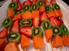Как сделать фруктовый шашлык