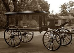 Victorian Mourning Customs - 1891 Gartner Hearse from Thurmont MD