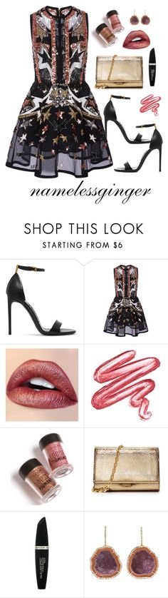 """""""untitled #575"""" by namelessginger ❤ liked on Polyvore featuring Tom Ford, Elie Saab, Velvetine, Michael Kors, Max Factor and Kimberly McDonald"""