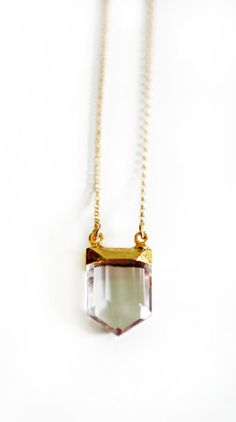 CRYSTAL point necklace.