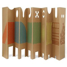 These Cardboard Dividers by Enzo Mari Protect Play Spaces #furniture trendhunter.com