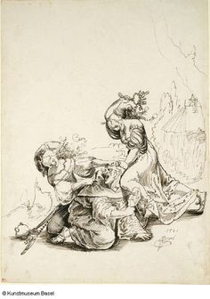 Urf Graf Two hookers attacking a monk 1521 by Vanderbruegghen, via Flickr
