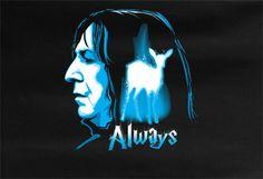 Harry Potter Alan Rickman Severus Snape Tee T-shirt