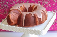 Buttermilk Strawberry Bundt Cake with Sweet White Chocolate Strawberry Ganache