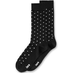 Bar Iii Men's Micro-Dot Dress Socks, (42 RON) ❤ liked on Polyvore featuring men's fashion, men's clothing, men's socks, black, men's patterned dress socks, mens dress socks, mens socks, mens seamless socks and mens patterned socks