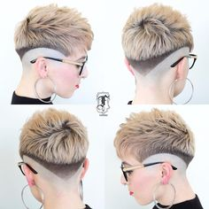 The top short hairstyles for men for the year 2018 are eye-catching and somewhat sophisticated. Today the short mens hairstyles have become particularly. Girl Short Hair, Short Hair Cuts, Cool Haircuts, Cool Hairstyles, Pixie Haircuts, Hairstyles With Glasses, Mens Hair Trends, Hair Tattoos, Bowl Cut