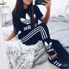 This outfit I wanttt Sport Outfits, Fall Outfits, Summer Outfits, Casual Outfits, Cute Outfits, Cute Addidas Outfits, Vest Outfits, Teen Fashion, Fashion Clothes