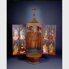 Jean Leon, Medieval, Triptych, Folk Art, Objects, Painting, Decor, Religious Art, Dioramas