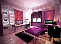 Purple Bedroom Designs... Lisa likes this. ;)