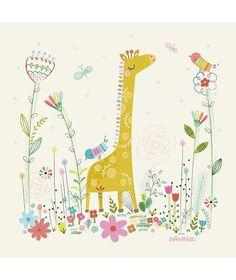 Cuadros infantiles jirafa