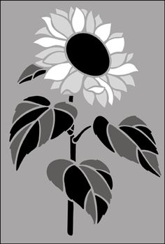 Click to see the actual GR3 - Sunflower  stencil design.